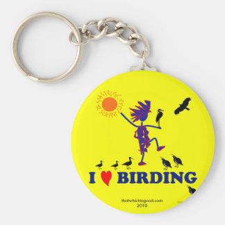 I Love Birding Keychain