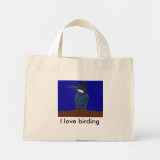 I Love Birding Kingfisher Bag