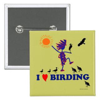 I Love Birding Pinback Button