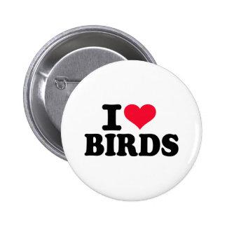 I love birds buttons