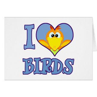 I Love birds Card