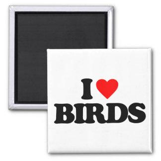 I LOVE BIRDS FRIDGE MAGNETS