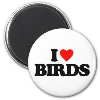 I LOVE BIRDS MAGNET