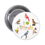 I LOVE BIRDS PINBACK BUTTONS