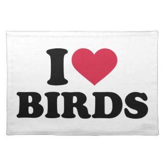 I love Birds Cloth Place Mat