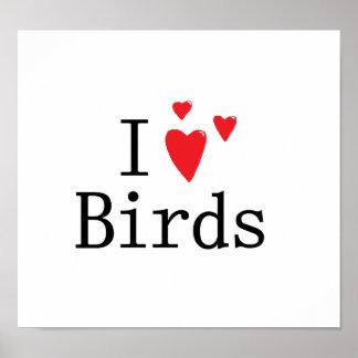 I Love Birds Print