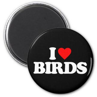I LOVE BIRDS REFRIGERATOR MAGNET