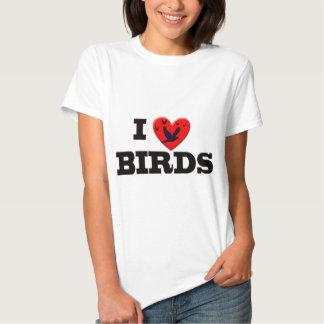 I LOVE BIRDS T-SHIRT