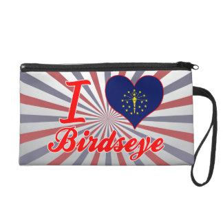 I Love Birdseye, Indiana Wristlet Clutch