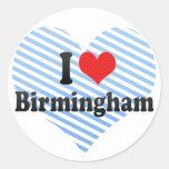I Love Birmingham Classic Round Sticker