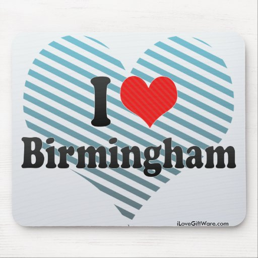 I Love Birmingham Mouse Pad