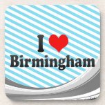 I Love Birmingham, United Kingdom Drink Coaster