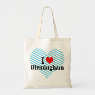 I Love Birmingham, United Kingdom Tote Bag