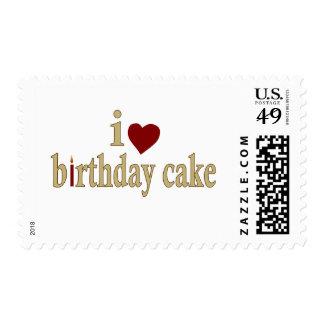 I Love Birthday Cake Postage Stamp