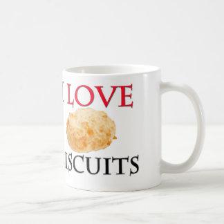 I Love Biscuits Classic White Coffee Mug