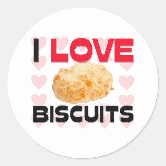 I Love Biscuits Sticker