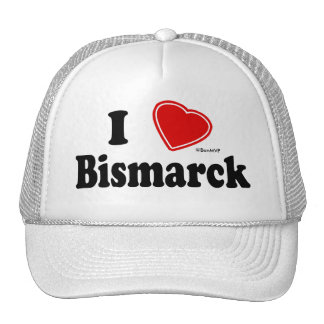 I Love Bismarck Hats