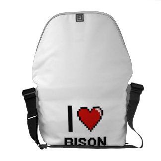 I love Bison Digital Design Messenger Bags