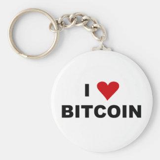 I Love Bitcoin  Round Keychain