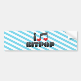 I Love Bitpop Bumper Stickers