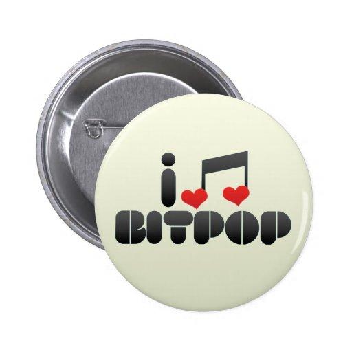 I Love Bitpop Pins