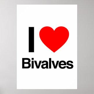 i love bivalves poster