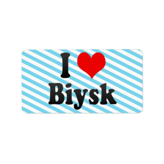 I Love Biysk, Russia. Ya Lyublyu Biysk, Russia Personalized Address Label
