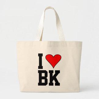 I Love BK Brooklyn Diamonds Heart Large Tote Bag