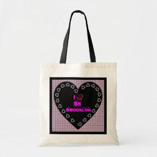 I Love BK Brooklyn Diamonds Heart Tote Bag