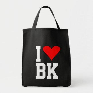 I Love BK Brooklyn Heart Tote Bag