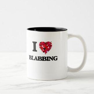 I Love Blabbing Two-Tone Coffee Mug