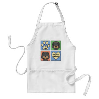 I Love Black and Tan Coonhounds Adult Apron