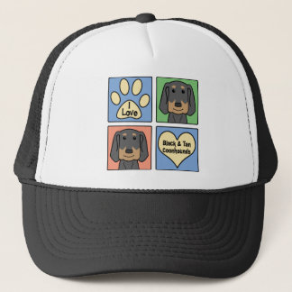 I Love Black and Tan Coonhounds Trucker Hat