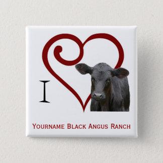 I love Black Angus Beef Pinback Button