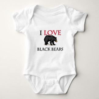 I Love Black Bears Baby Bodysuit