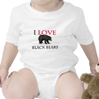 I Love Black Bears Tee Shirts