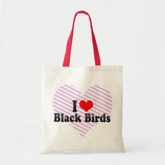I Love Black Birds Bag