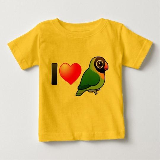 I Love Black-cheeked Lovebirds Baby T-Shirt