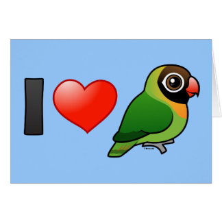 I Love Black-cheeked Lovebirds Greeting Card