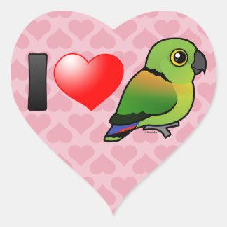 I Love Black-collared Lovebirds Heart Sticker