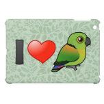 I Love Black-collared Lovebirds iPad Mini Cases
