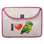 I Love Black-collared Lovebirds MacBook Pro Sleeve
