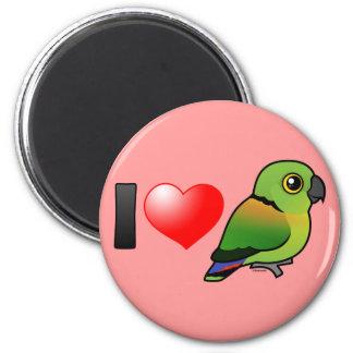 I Love Black-collared Lovebirds 2 Inch Round Magnet