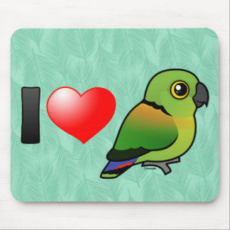 I Love Black-collared Lovebirds Mouse Pads