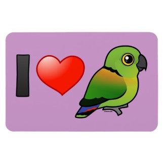 I Love Black-collared Lovebirds Rectangular Photo Magnet