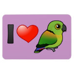I Love Black-collared Lovebirds Rectangle Magnets