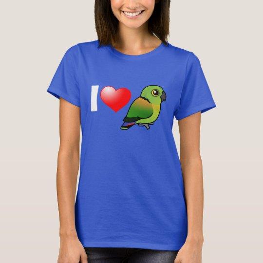 I Love Black-collared Lovebirds T-Shirt