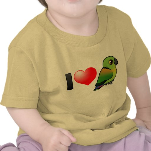 I Love Black-collared Lovebirds T-shirts