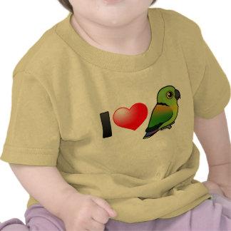 I Love Black-collared Lovebirds T-shirts
