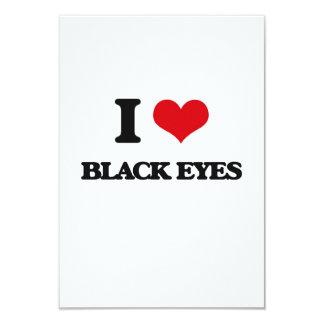 I Love Black Eyes 3.5x5 Paper Invitation Card